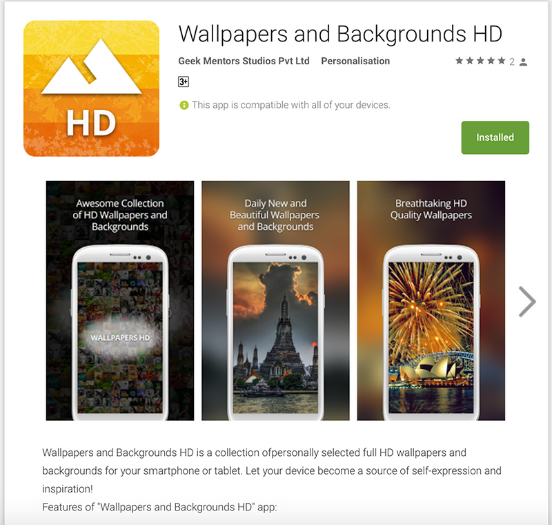 wallpaper-and-backgrounds-hd on Google play