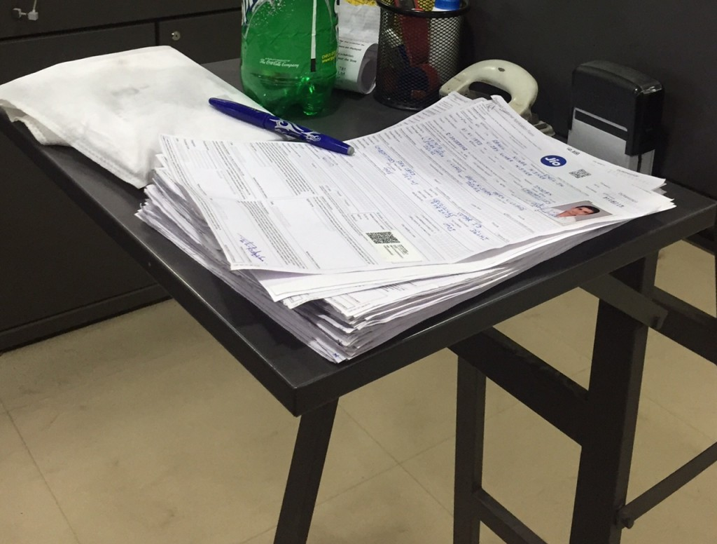 CAF forms are piled up in the Reliance Digital Stores pending for activation